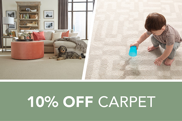 10 percent off Carpet – Only at Harry's Floors To Go in Burlingame, California