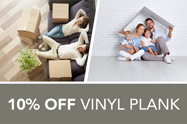 10 percent off Vinyl – Only at Harry's Floors To Go in Burlingame, California